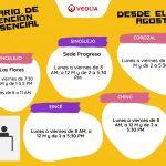 A partir del lunes Veolia normaliza el horario presencial de atención al cliente