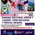 Campeonato Nacional de Taekwondo se desarrollará en Sincelejo